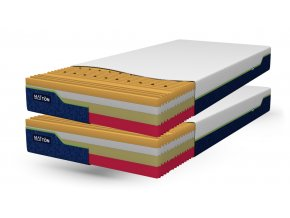 Zdravotní matrace MATTON RELAX MEMORY KOMBI 90x200x22 cm, potah Greenfirst, SADA 1+1, v potahu, 24 tuhostí v jedné matraci #01