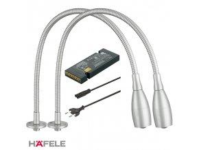 2 ks Lampička LOOX LED 2018 12V Zápustná montáž + Driver 12V/15W + Napájecí kabel