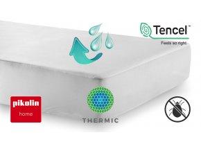 Nepropustný chránič matrace PIKOLIN HOME TENCEL® + THERMIC® s výškou bočnice 32 cm #01