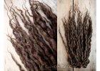 1496 tmave hnede pseudo dready z vlny