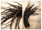 1487 temne hnede pseudodredy z vlny