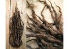 1484 cokoladove dready fakedredy dreads vlnene wool