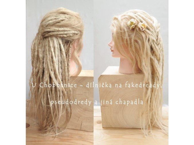 blond fake synthetic dreads dredy pseudo kanekalon flowers shop