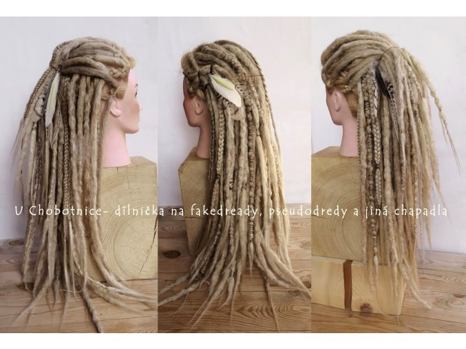 wild blond fake dreads