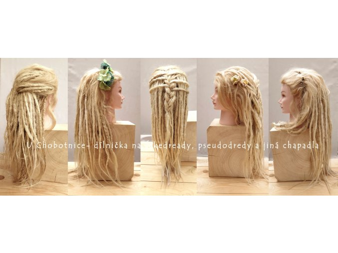 blond fake synthetic dreads dredy pseudo kanekalon