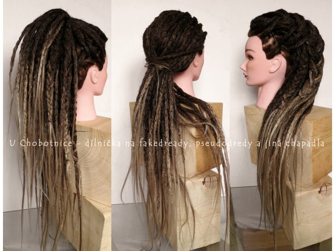 ombre fake synthetic dreadlocks dreads pseudo dredy dreads