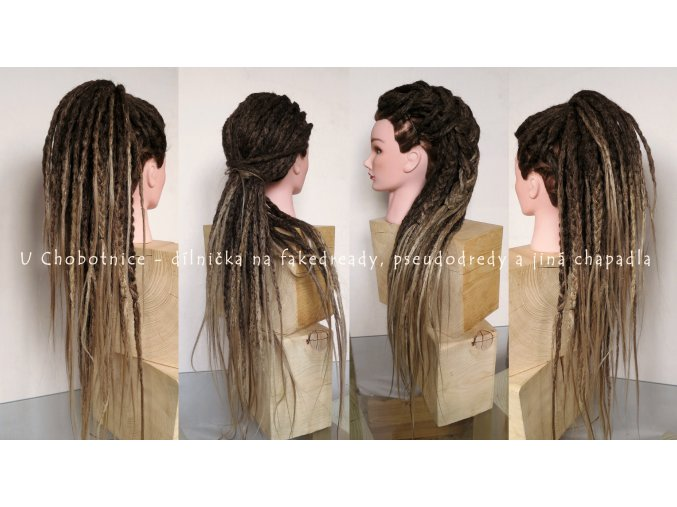 ombre fake synthetic dreadlocks dreads pseudo dredy