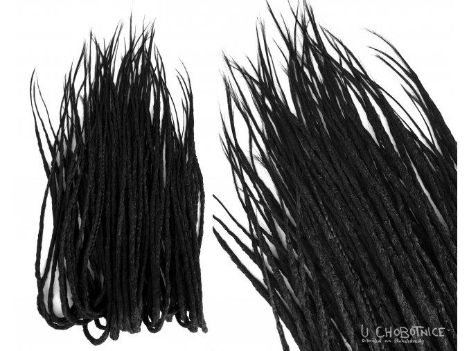Jednobarevné basic fake dreads z kanekalonu - EXTRA DLOUHÉ