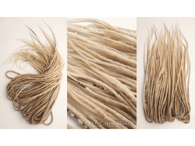 creamy blonde synthetic dreadlocks blond fake dredy