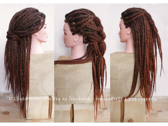 brown synthetic dreads