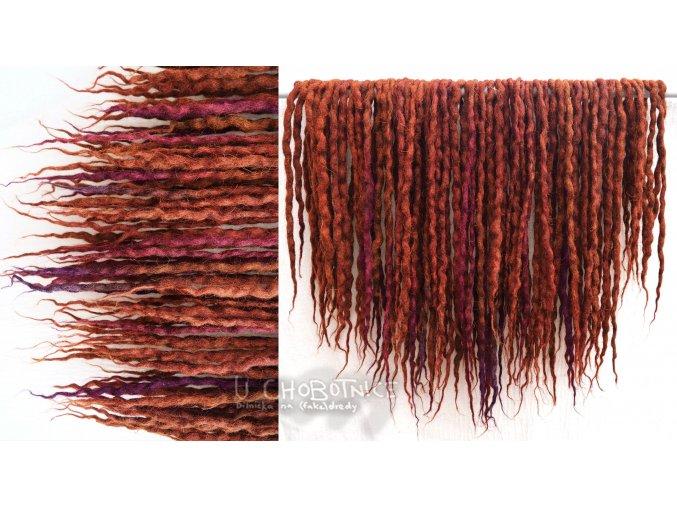 Mahagonovo fialové fakedredy - NATURAL