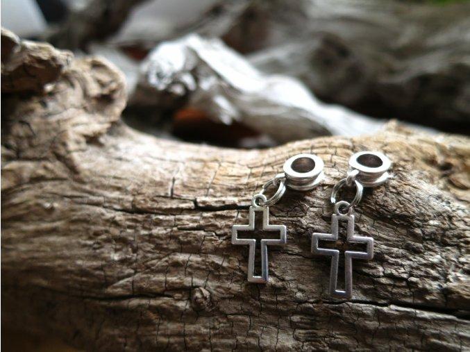 Korálek do dredů křížek - stříbrná