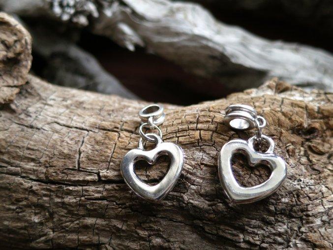 Korálek do dredů srdce - stříbrná