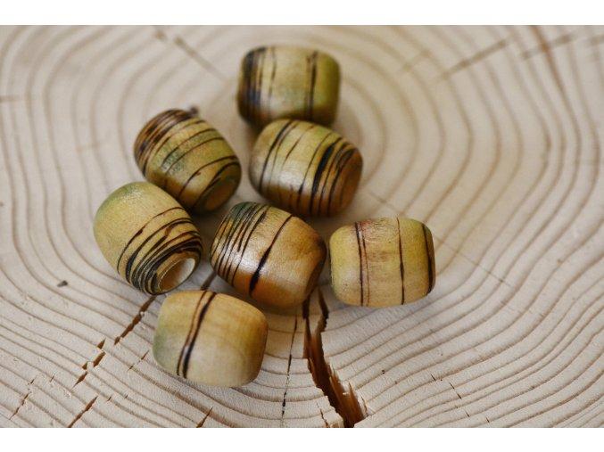 Vypalované korálky do dreadů s asymetrickými čarami