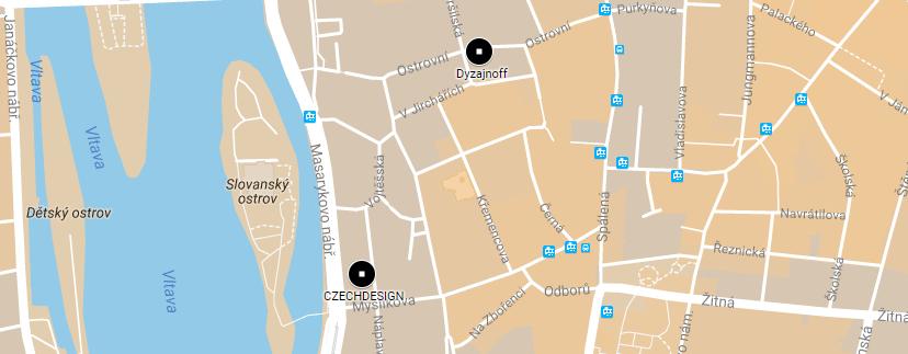 Mapa Shoowroomů