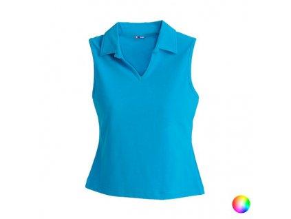 Dámské triko s límečkem bez rukávů 149197 (Barva Oranžová, Velikost M)