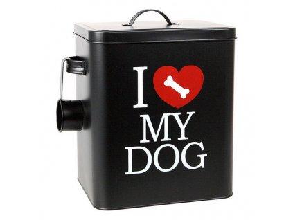 1064831 konzerva pre psov 112801 15 l cierna 30 x 25 5 x 20 5 cm
