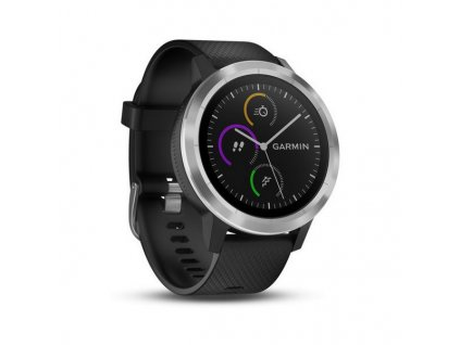 1510991 chytre hodinky garmin vivoactive 3 1 2 gps vodeodolny 5 atm glonass cierna nerezova ocel