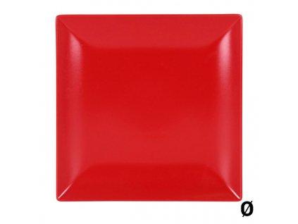 Mělký talíř Jinde Červená (Rozměr 26 x 26 x 2,5  cm)