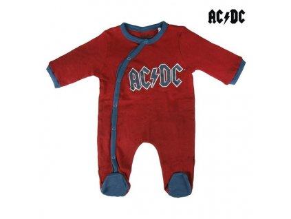 Dětské body s dlouhým rukávem AC / DC (Velikost 3 měsíce)
