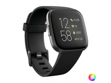 """Chytré hodinky fitbol Versa 2 1,4 """"AMOLED WiFi 165 mAh (Barva Černá)"""