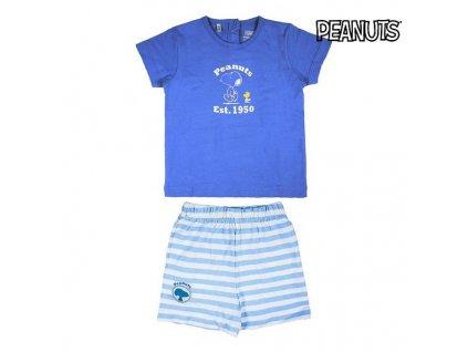 Souprava oblečení Snoopy Námořnická modrá (Velikost 9 měsíců)
