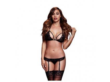 1609874 eroticky set podvazky s podprsenkou baci lingerie bw3101