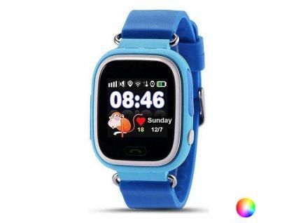 """Chytré hodinky pro děti LEOTEC Kids Way 1,22 """"GPS 400 mAh (Barva Modrá)"""