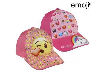 Dětská kšiltovka Emoji 72853 (53 cm) (Barva Světle růžová)