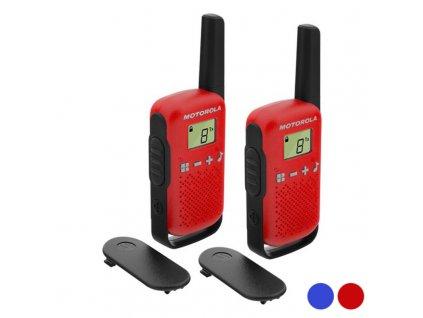 """Přenosná vysílačka Motorola T42 Dual 1,3 """"LCD 4 km (2 ks) (Barva Červená)"""