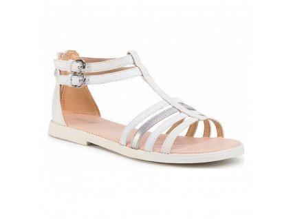 Dětské sandály Geox JR KARLYGIRL 14 - K Bílá (Velikost nohy 30)