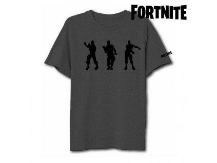 Unisex tričko s krátkým rukávem Fortnite 75063 Šedá (Velikost S)