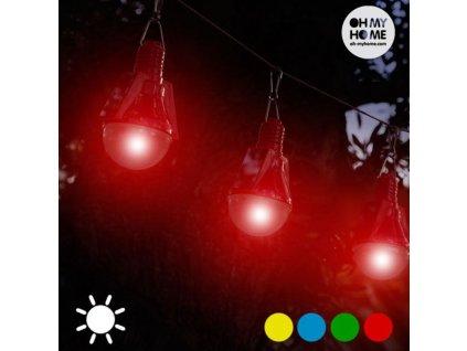 Solární Žárovky (4 kusy v balení) (Barva Červená)