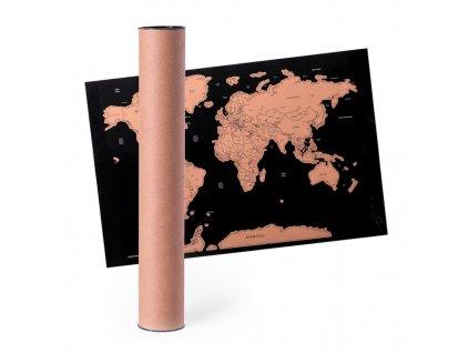 Stírací Mapa Světa 146590 (Barva Přírodní)