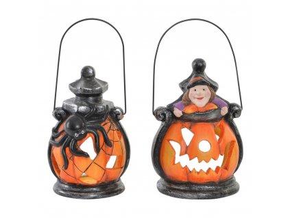 2190335 svietnik dkd home decor halloween kov porcelanove nadoby tekvica 2 ks 9 x 8 x 13 5 cm