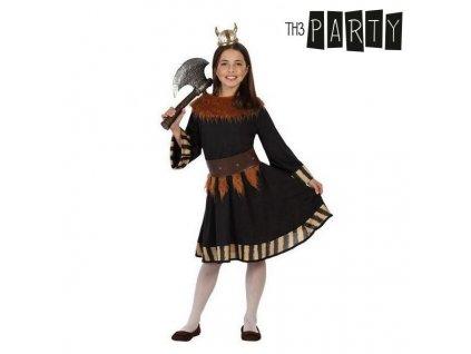 Kostým Žena Viking (Velikost 3–4 roky)