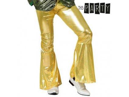 Kalhoty pro dospělé Disco Zlatá (Velikost XS/S)