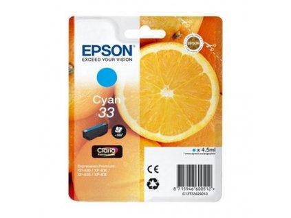 Originální inkoustové náplně Epson T33 (Barva Ciánová)