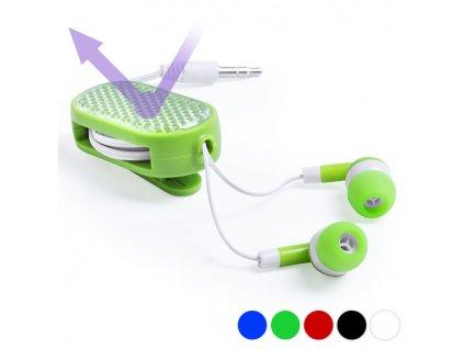 Sportovní sluchátka s reflexními doplňky 145682 (Barva Modrá)