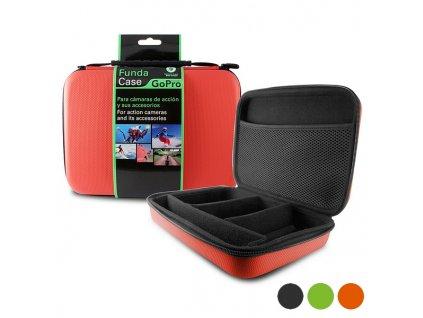 Tvrdý obal pro sportovní kameru KSIX (24 x 17,5 x 5 cm) (Barva Červená)