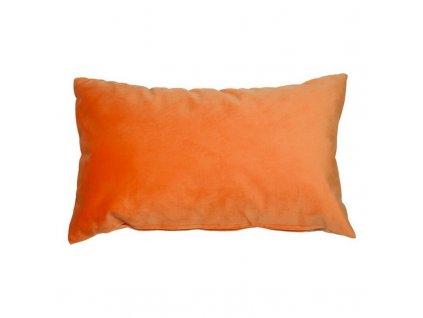 Polštářek Velvet Oranžová (Rozměr 50 x 10 x 30 cm)