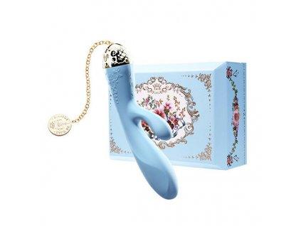 Vibrátor ve tvaru Králíka Rosalie Zalo (Barva Modrá)