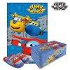 Plechová Krabice s přikrývkami a pantofle Super Wings (3 ks) (Velikost nohy 26-27)