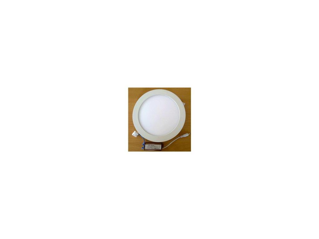 LED svídidlo kruh 18W vestavné bílý rámeček průměr 22,5cm