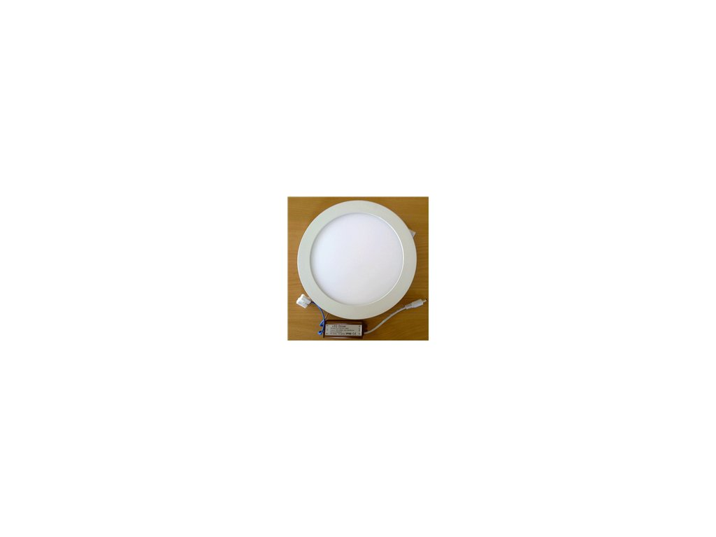 LED svídidlo kruh 25W vestavné bílý rámeček průměr 30cm