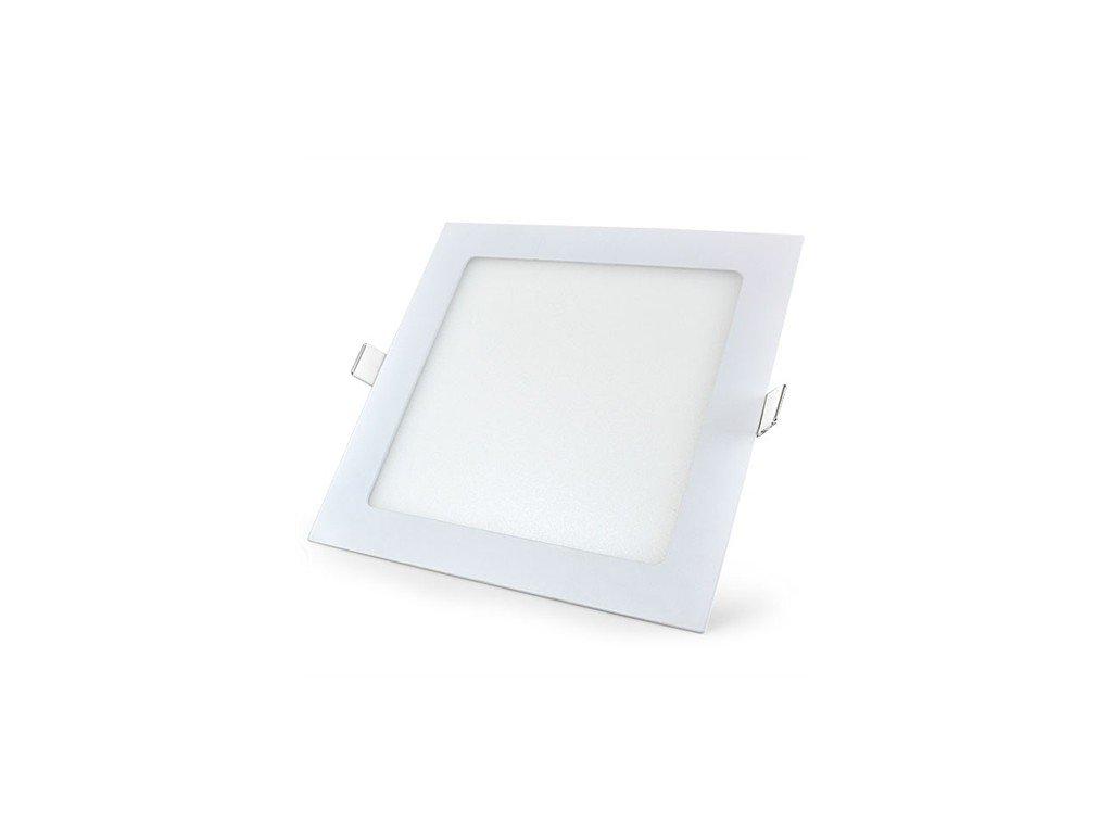 LED svídidlo čtverec 6W vestavné bílý rámeček 12x12cm
