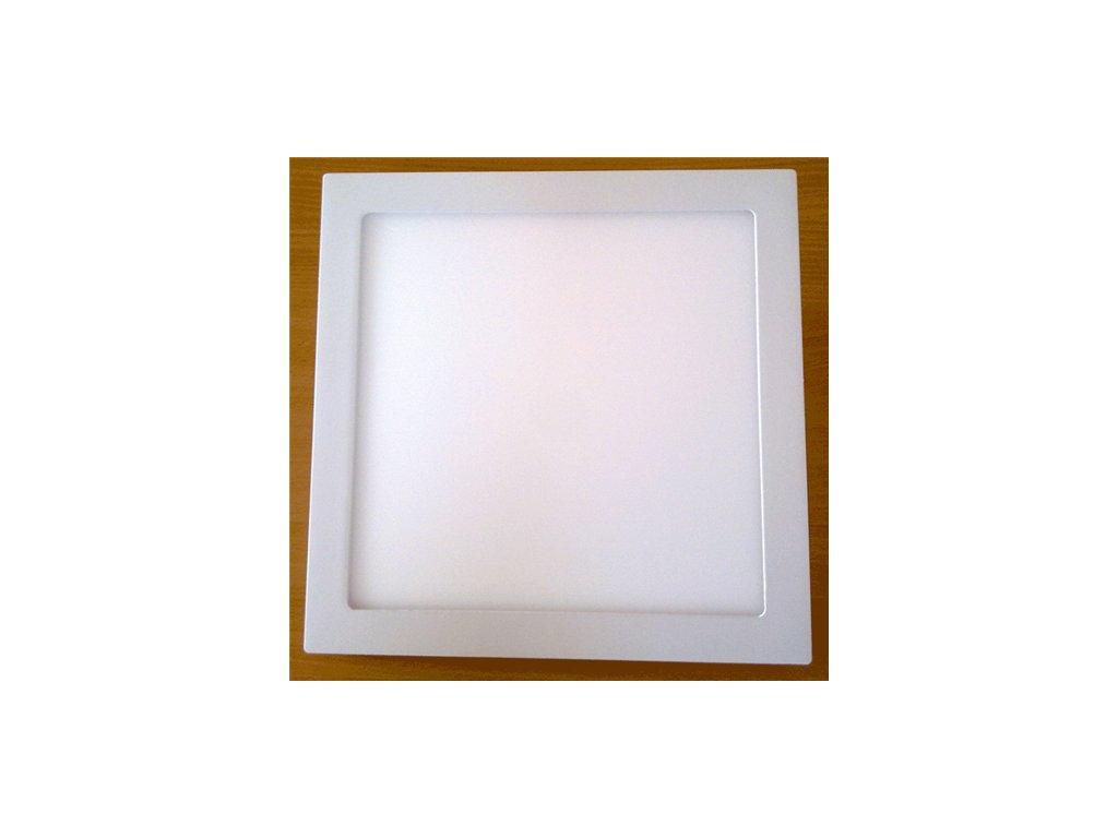 LED svídidlo čtverec 24W vestavné bílý rámeček 30x30cm
