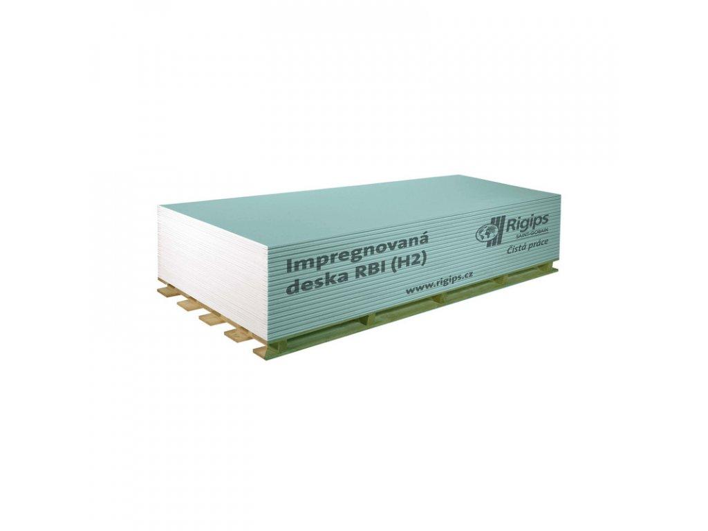 Sadrokartonova deska impregnovana RBI 12,5mm paleta