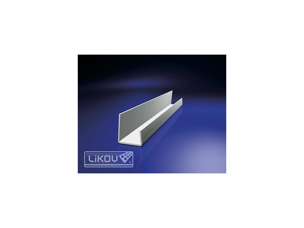 Profil ukončovací PVC 12,5mm bílý /2,5m/