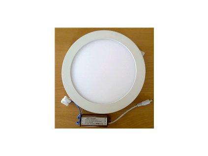 LED svídidlo kruh 6W vestavné bílý rámeček průměr 12cm